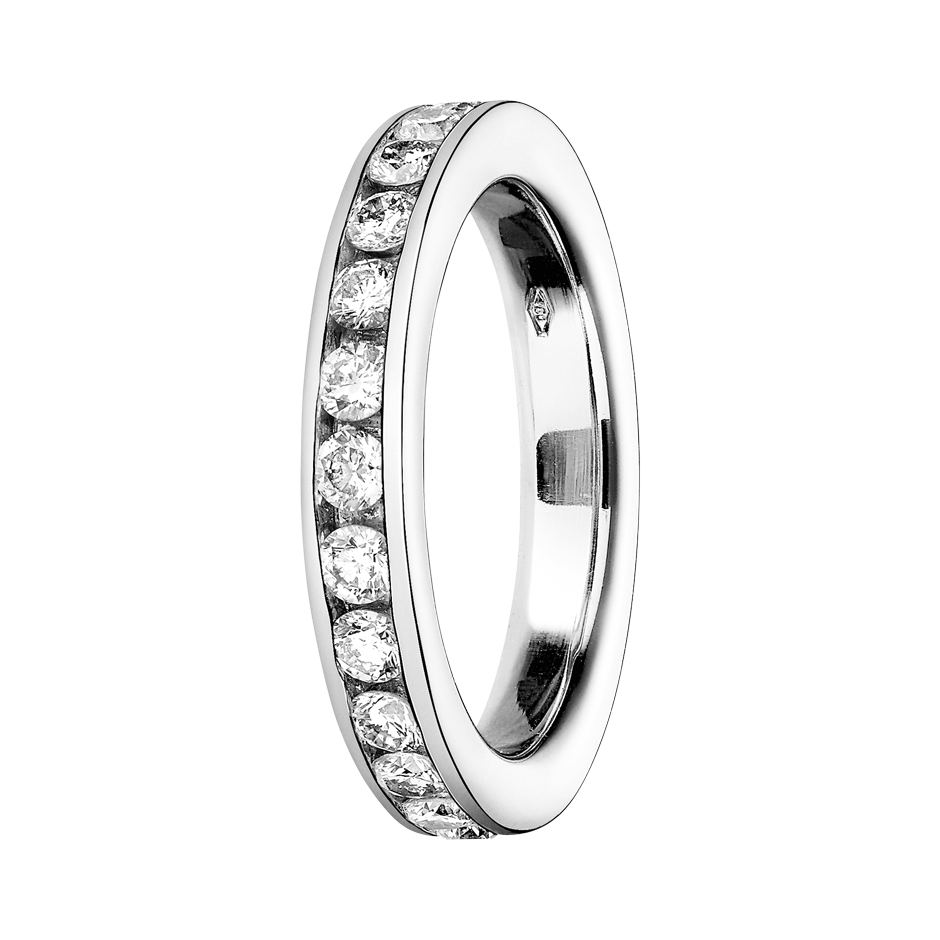 Eternity Ring Amsterdam H SI in White Gold