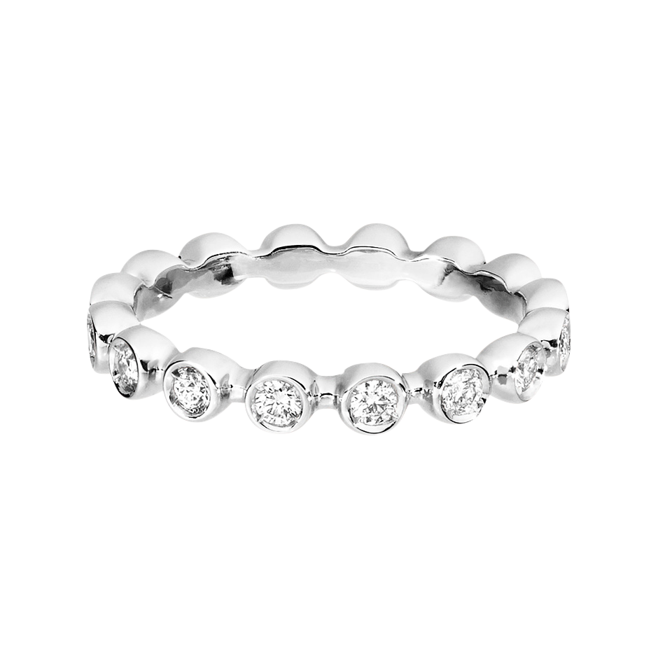 Eternity Ring Faro H SI in White Gold