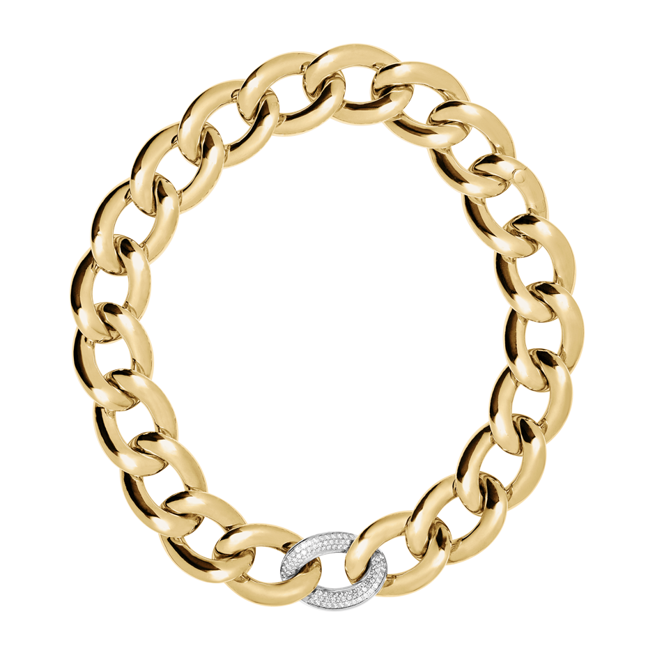 Gold Necklace with Diamonds in Yellow Gold