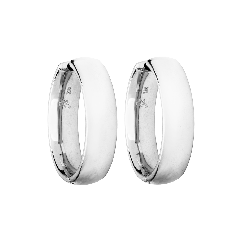 Hoop Earring Classics in White Gold