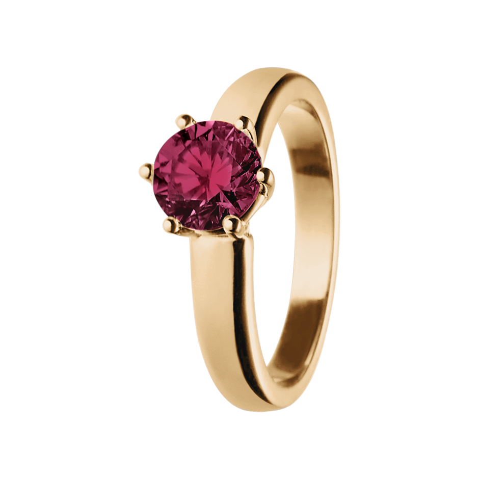 Malmö Rhodolite red in Rose Gold