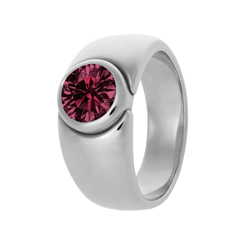 Mantua Rhodolite red in Platinum