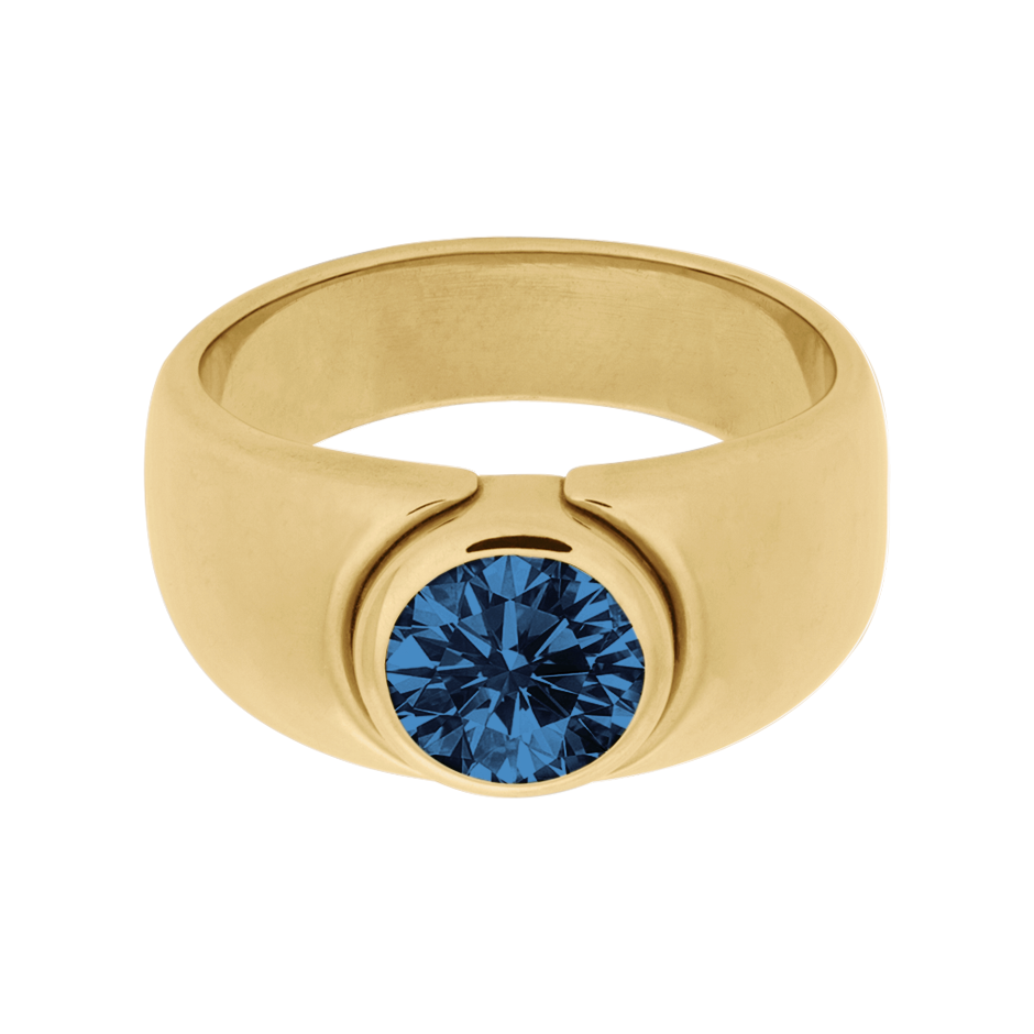 Mantua Sapphire blue in Yellow Gold