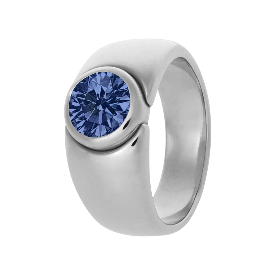 Mantua Tanzanite blue in White Gold