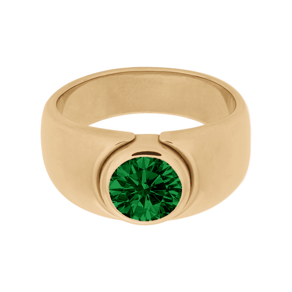 Mantua Tourmaline green in Rose Gold