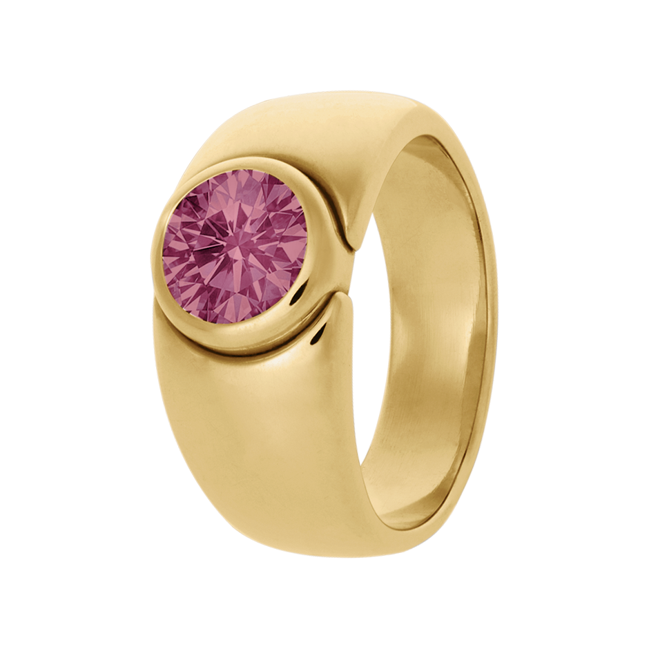 Mantua Tourmaline pink in Yellow Gold