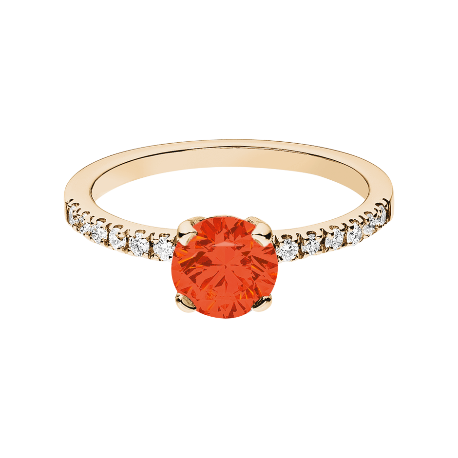 Melbourne Fire Opal orange in Rose Gold