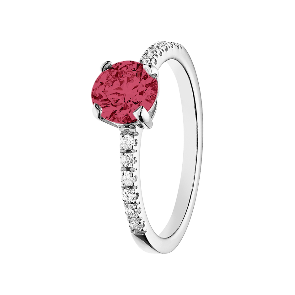 Melbourne Ruby red in White Gold