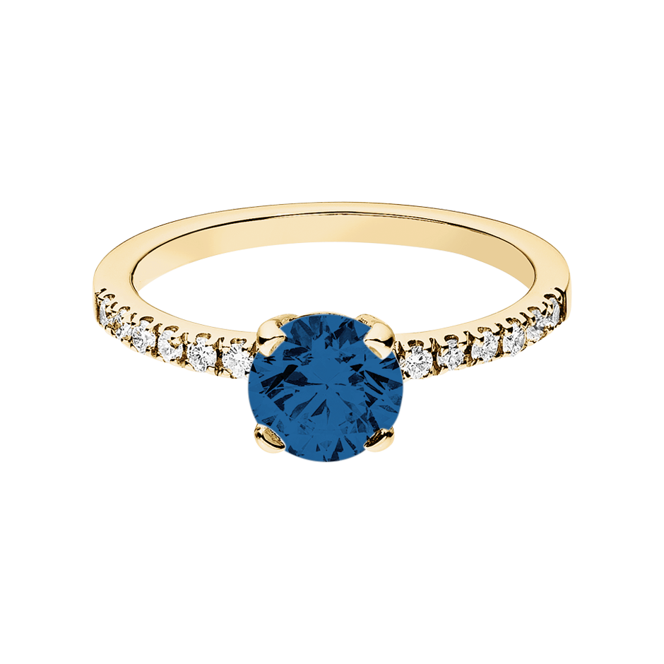 Melbourne Sapphire blue in Yellow Gold