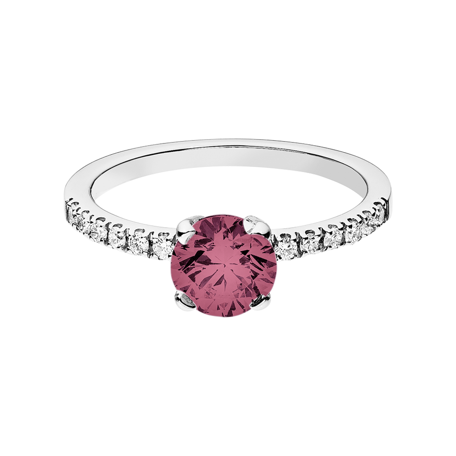 Melbourne Tourmaline pink in Platinum