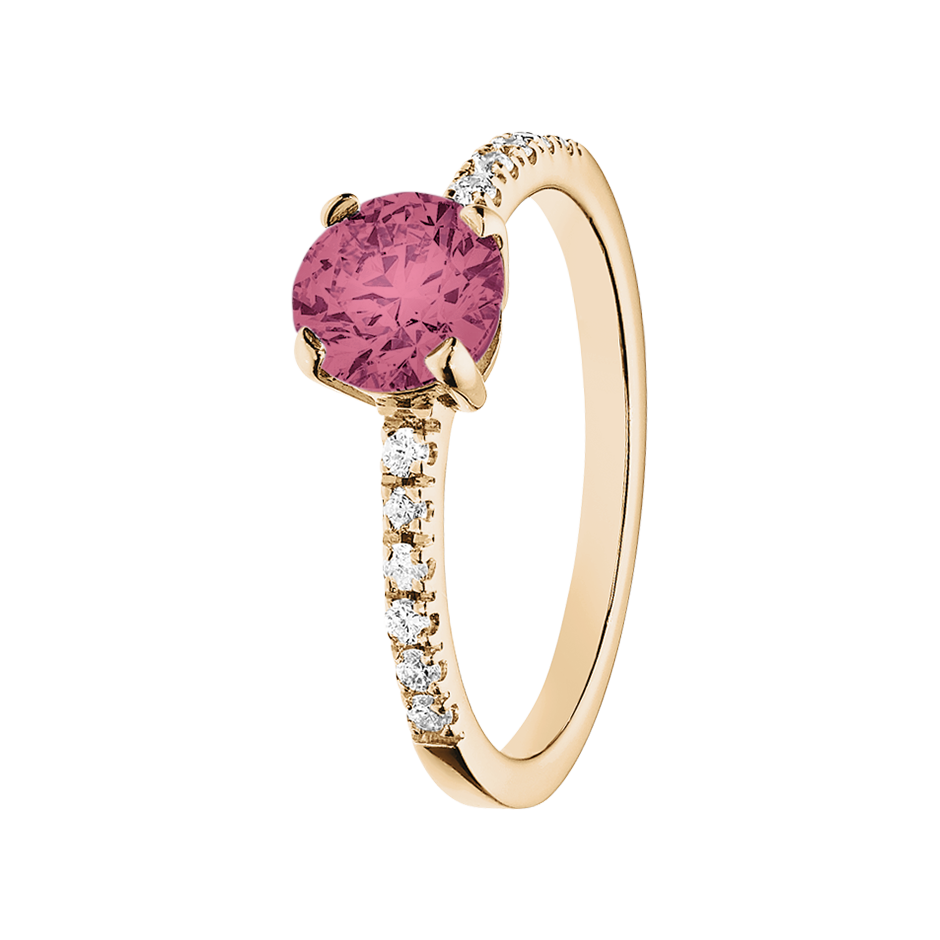 Melbourne Tourmaline pink in Rose Gold