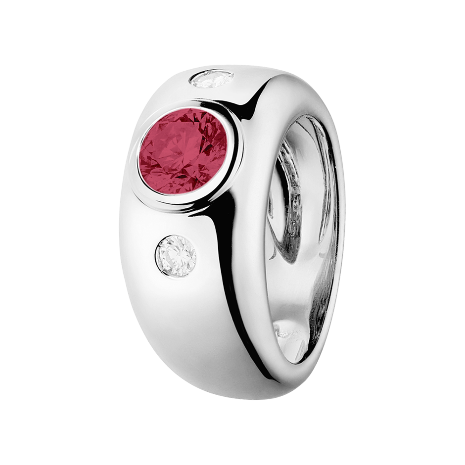 Naples Ruby red in Platinum