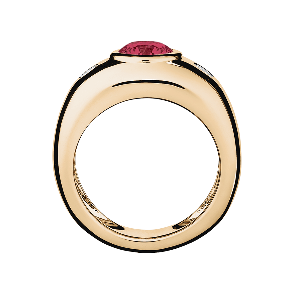 Naples Ruby red in Rose Gold