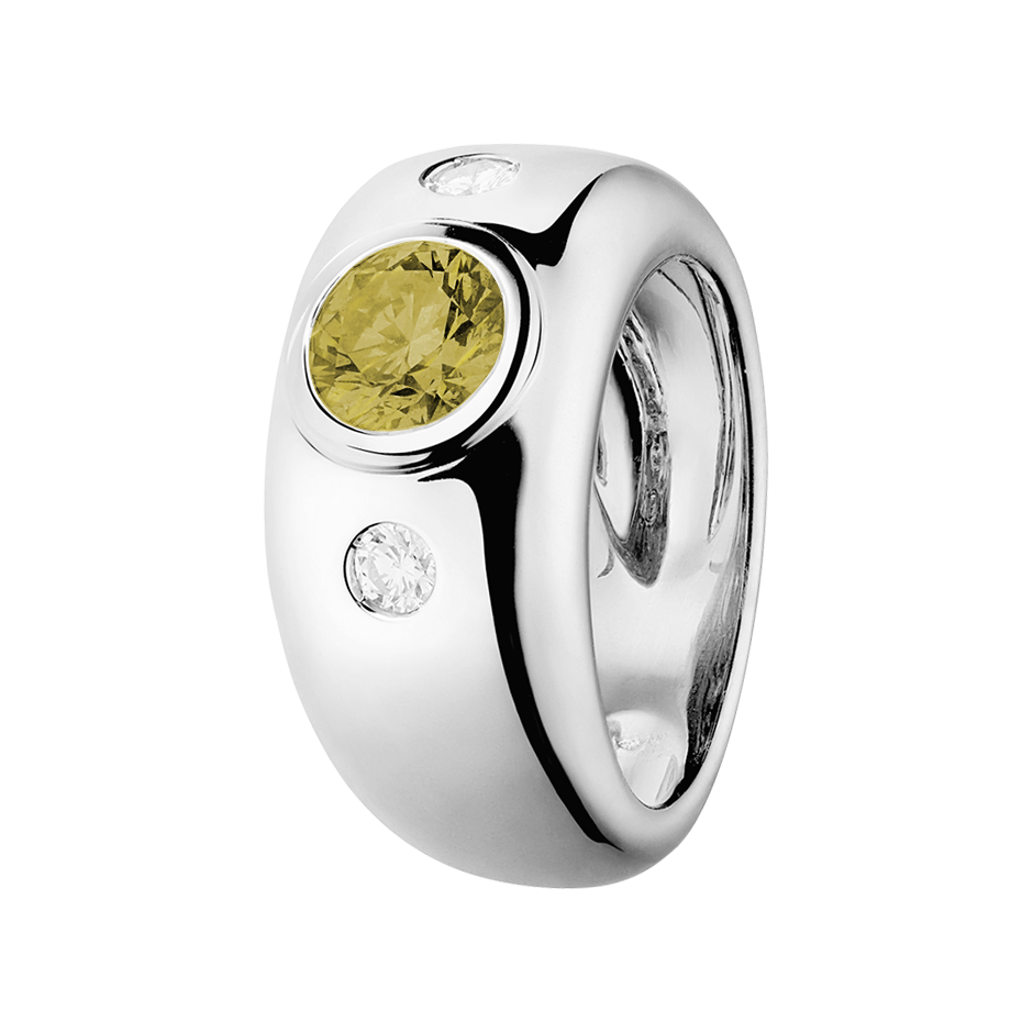 Naples Sapphire yellow in White Gold