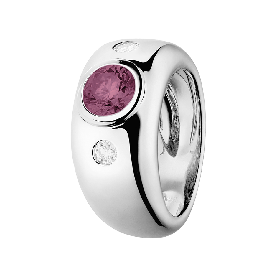 Naples Tourmaline pink in Platinum