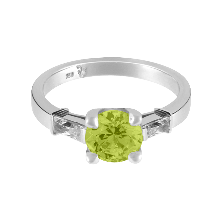 Paris Peridot grün in Platin