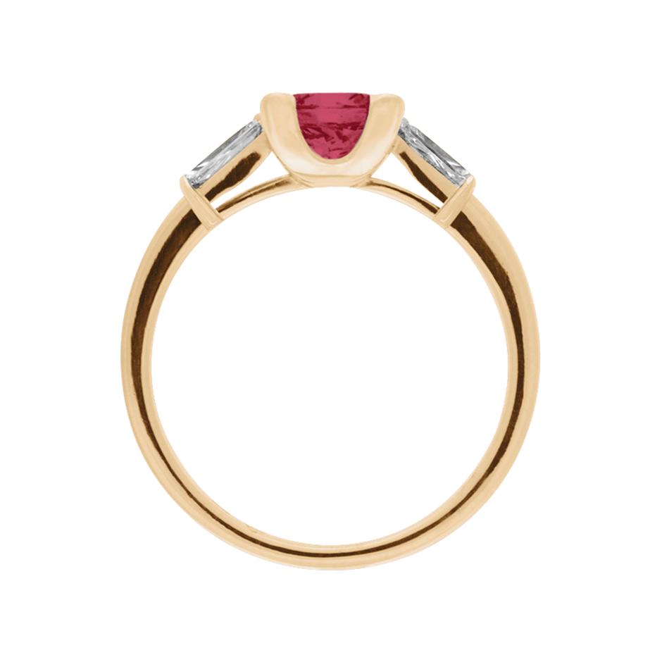 Paris Ruby red in Rose Gold