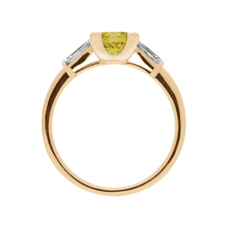 Paris Sapphire yellow in Rose Gold