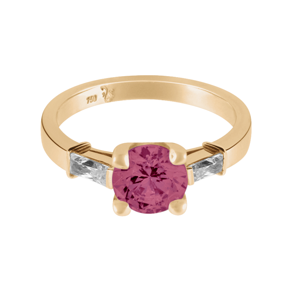 Paris Tourmaline pink in Rose Gold