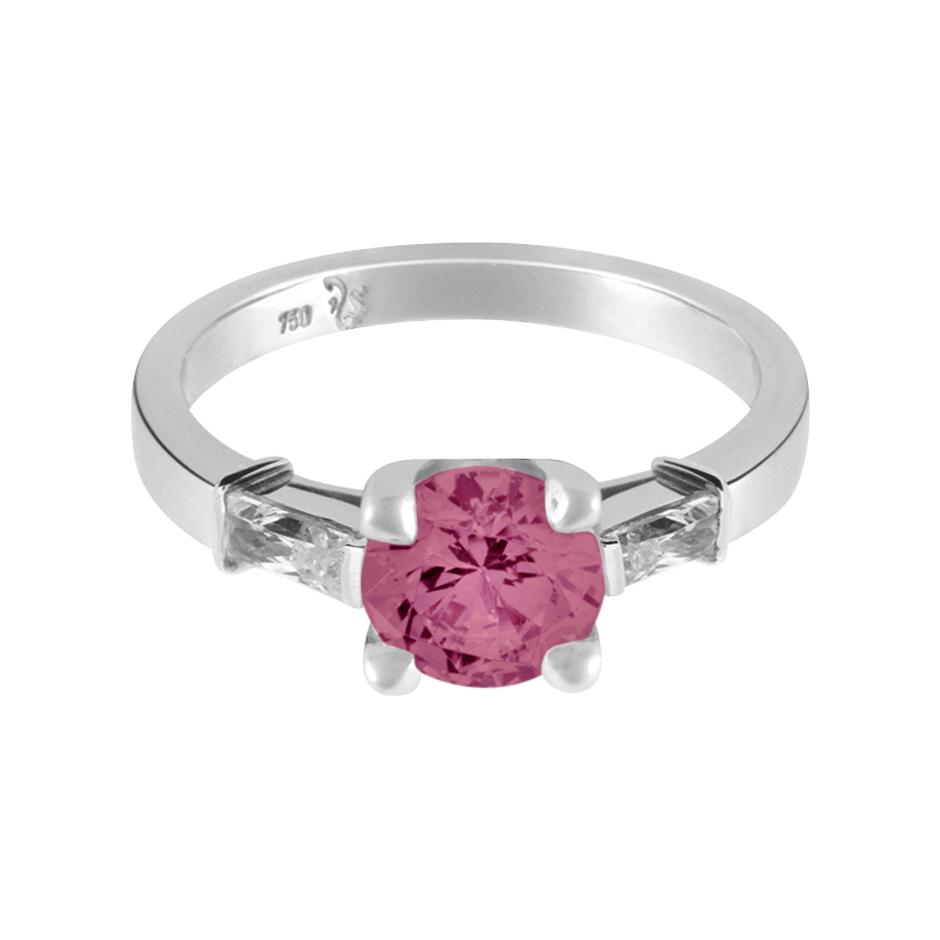 Paris Tourmaline pink in White Gold