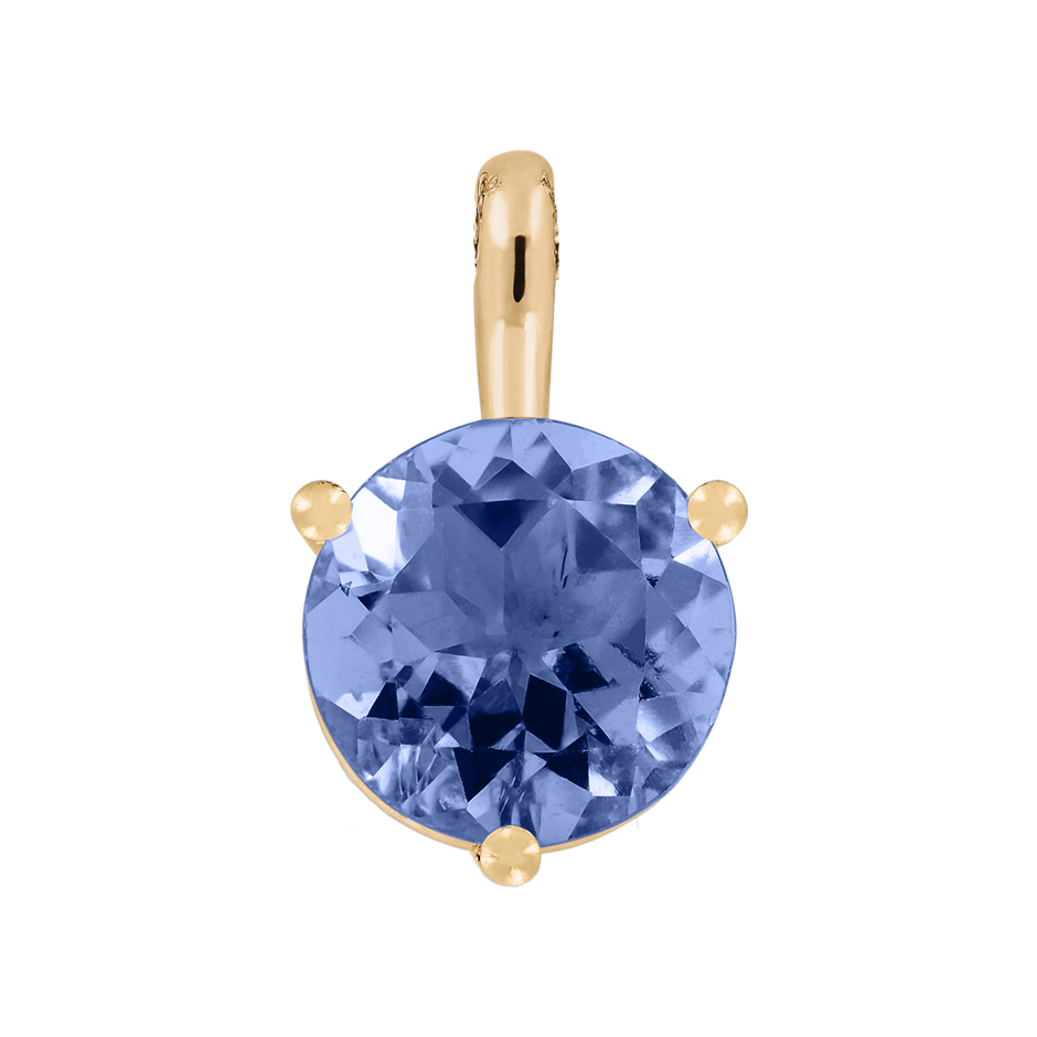 Pendant 3 Prongs Tanzanite blue in Rose Gold