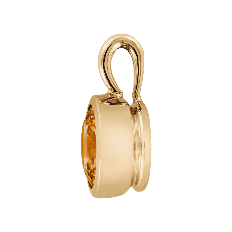 Pendant Bezel Madeira Citrine orange in Rose Gold