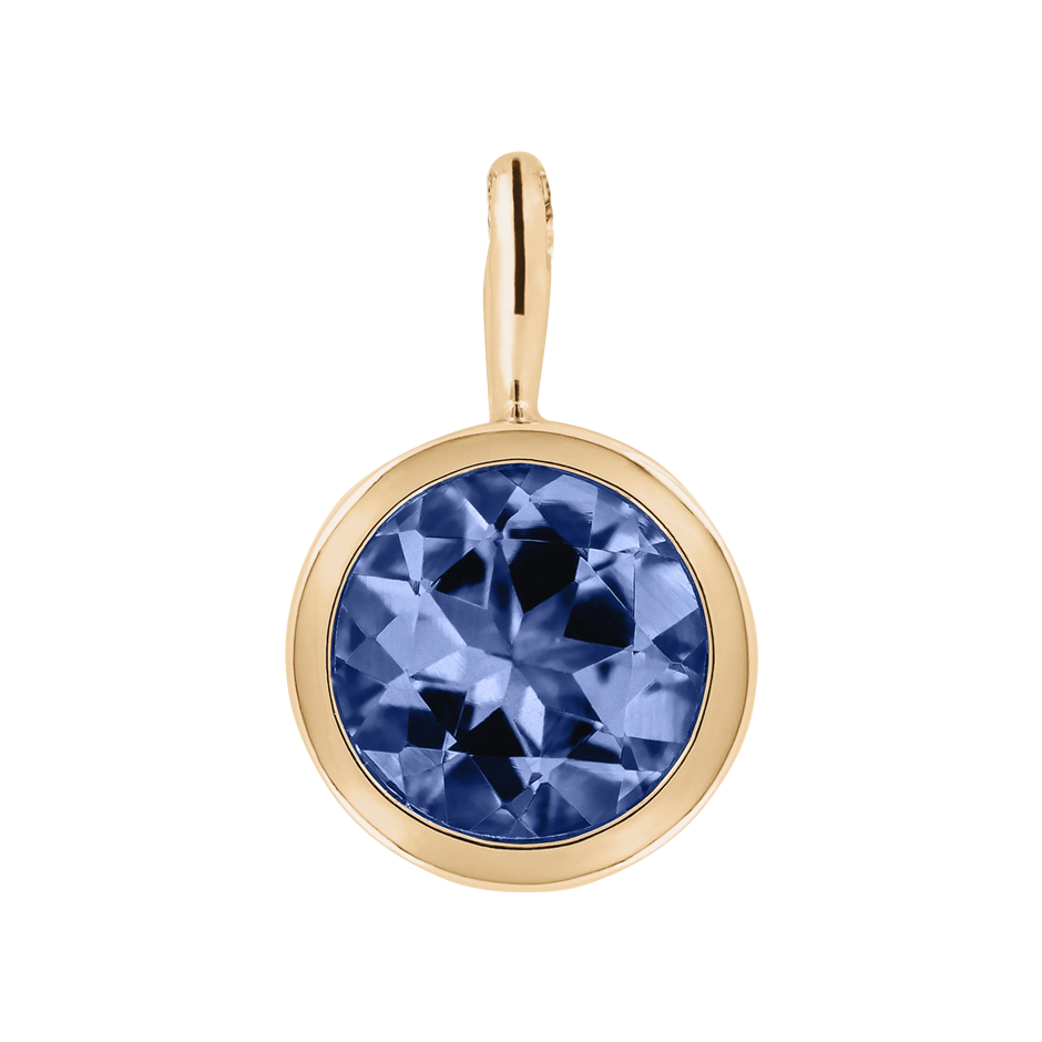 Pendant Bezel Tanzanite blue in Rose Gold