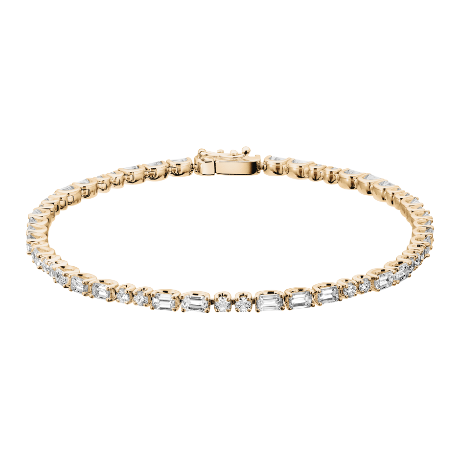 Tennis Bracelet Emerald in Rose Gold