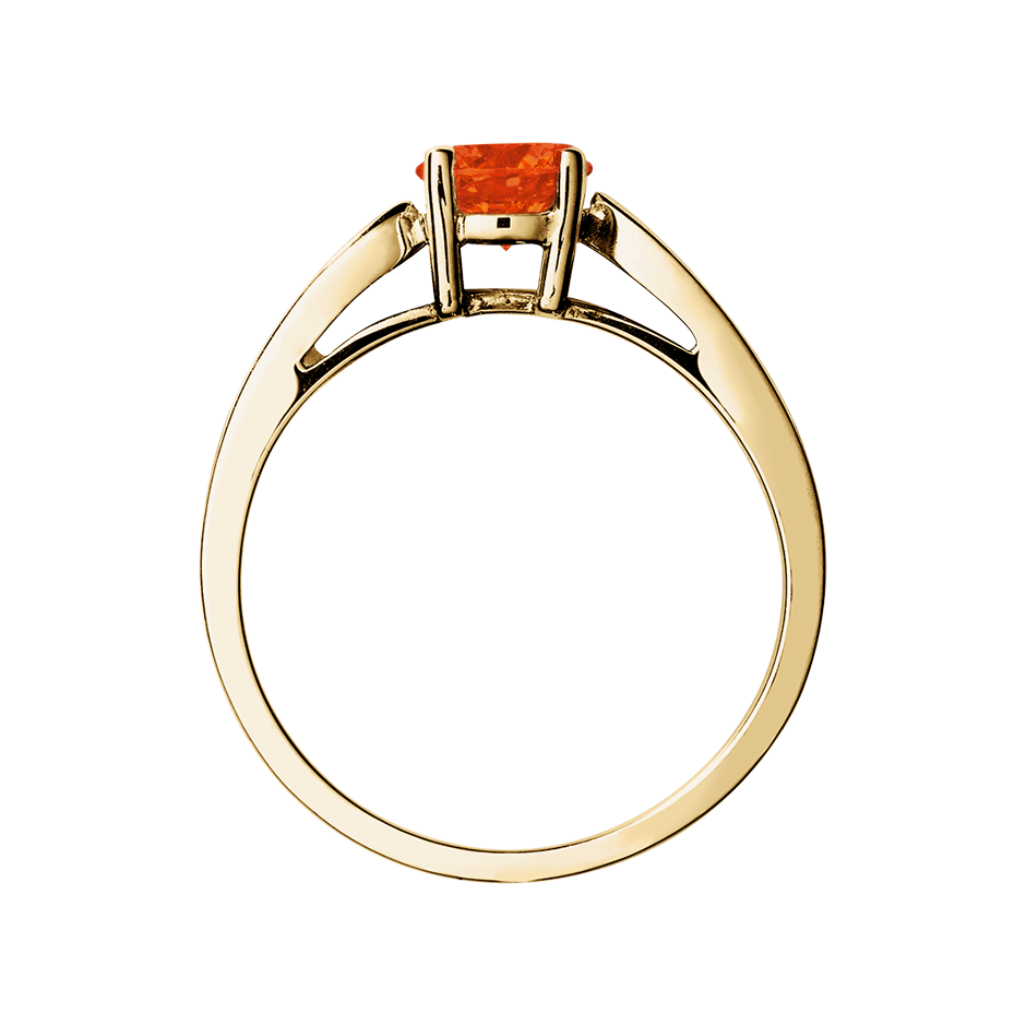 Vancouver Fire Opal orange in Yellow Gold