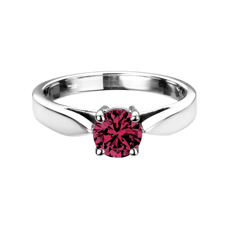 Vancouver Rhodolite red in White Gold